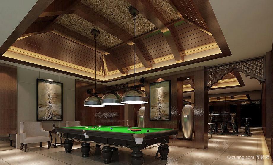 超大型豪华别墅东南亚风格娱乐室装修案例
