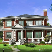 环境优美的现代农村小洋楼房屋设计图