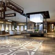 酒店大堂新中式装潢