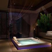 2016东南亚风格美容会所浴缸装修案例