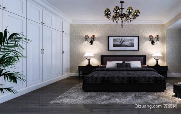 高贵典雅:大户型欧式卧室整体衣柜装修效果图