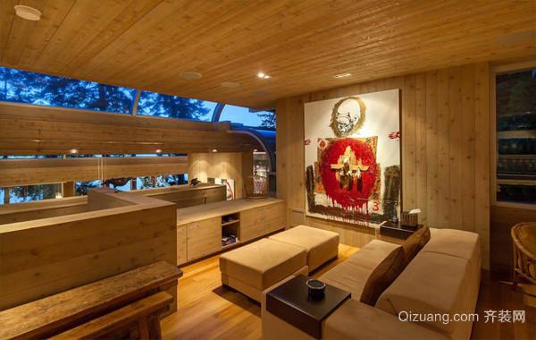 亲近自然:美式实木别墅装修效果图