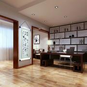新中式风格书房图片