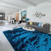 别墅客厅地毯展示