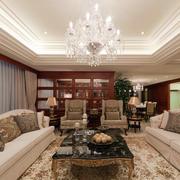 家居客厅水晶吊灯展示