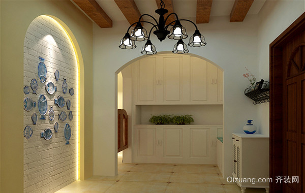 2016欧式风格别墅室内玄关装修效果图实例