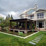 拥抱山水:农村小洋楼庭院设计图