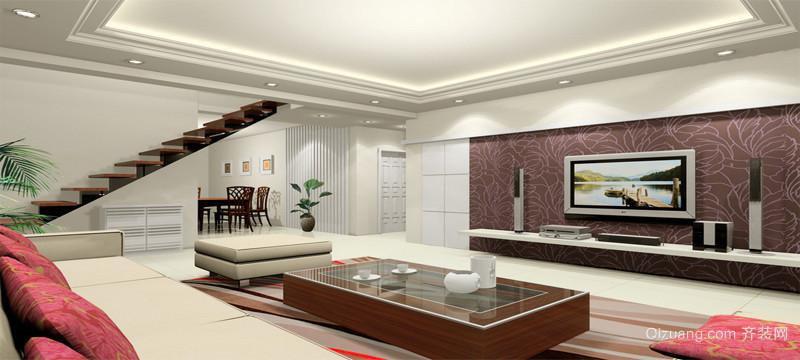 完美都市大户型室内楼梯装修效果图实例欣赏