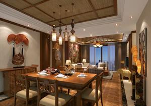 102平米东南亚风格餐厅装修案例