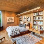 别墅卧室床头置物架
