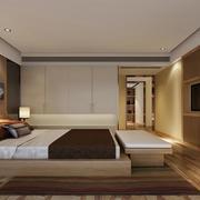 单身公寓欧式风格卧室背景墙装修效果图实例