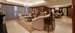 美式风格现代大户型客厅装修效果图案例