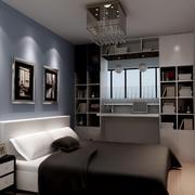 现代简约小型公寓17平米卧室装修效果图