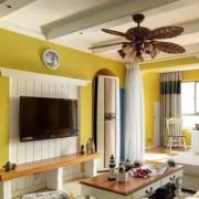 东南亚风格大户型客厅装修效果图案例