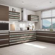 厨房精致咖啡色橱柜