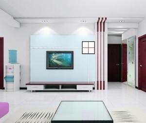 大户型欧式客厅液晶电视背景墙装修效果图
