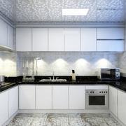厨房白色不锈钢橱柜