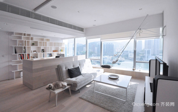 现代87平米小户型家庭公寓装修图片