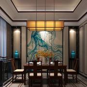餐厅背景装饰画展示