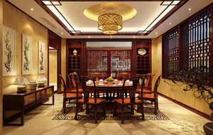 餐厅古典吊顶展示