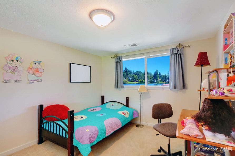 别墅型欧式风格儿童房装修效果图实例