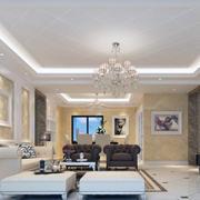 现代大户型欧式风格客厅室内装修效果图