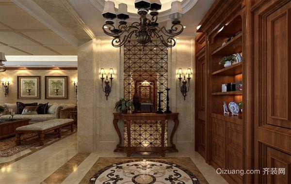 古典艺术:美式别墅进门玄关装修效果图