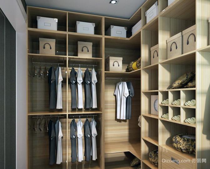 三居室现代简约衣帽间装修效果图鉴赏