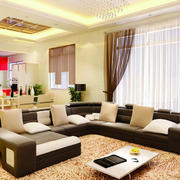 2016现代单身公寓客厅装修效果图欣赏