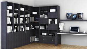 经典大户型唯美的书房书柜装修效果图