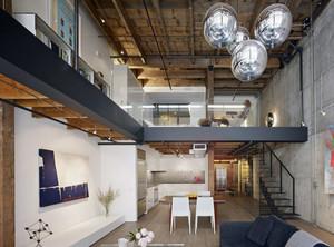 100平米欧式大户型客厅室内loft装修效果图鉴赏