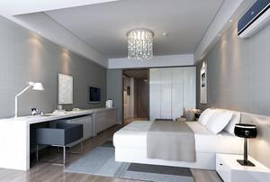 现代欧式单身公寓室内装修效果图