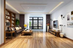 104平米雅致家居客厅自然装修效果欣赏