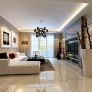 2016三室一厅现代客厅装修效果图欣赏