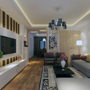 90平米大户型欧式客厅装修效果图鉴赏