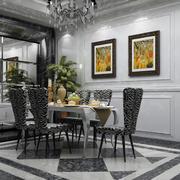 100平米房屋欧式风格餐厅装修效果图