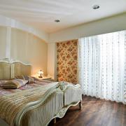 田园卧室窗帘欣赏