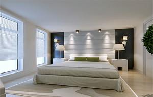 二居室欧式卧室床头壁灯装修效果图实例