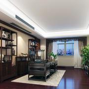 稳重大方的大户型中式书房装修效果图鉴赏