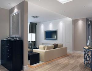 单身公寓欧式风格客厅吊顶装修效果图