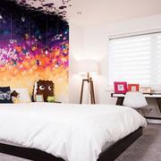 舒适大方的欧式卧室背景墙装修效果图