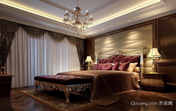 高贵奢华大别墅欧式卧室装修效果图