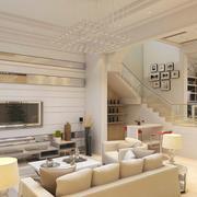 米白色客厅图片