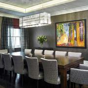 203平米家居后现代餐厅装修效果图
