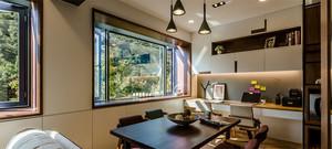 单身公寓现代温暖欧式餐厅装修效果图