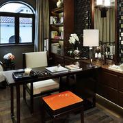 现代家居大户型中式书房装修效果图