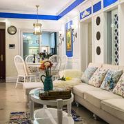 两室一厅地中海风格客厅装修效果图鉴赏
