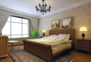 大户型简欧风格卧室背景墙装修效果图实例