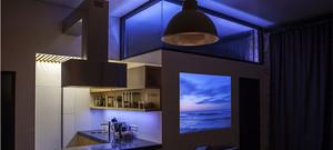 极梦幻紫色大户型欧式厨房室内装修效果图
