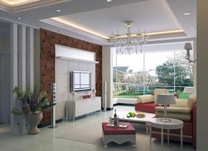 三居室欧式风格客厅吊顶装修效果图欣赏